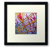 Love Grunge Texture Framed Print