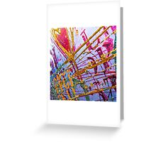Love Grunge Texture Greeting Card