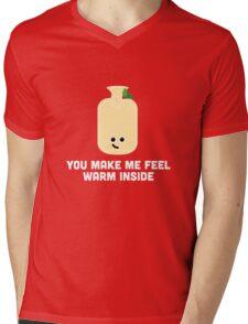 Christmas Character Building - You make me feel warm inside Mens V-Neck T-Shirt