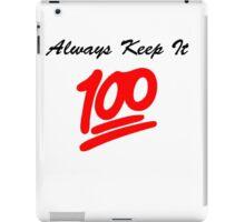 Keep it 100 Emoji Shirt iPad Case/Skin