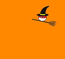 Polandball Halloween - Polandwitch Small by xzbobzx