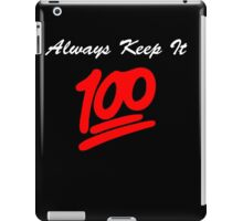 Keep it 100 Emoji Shirt alt iPad Case/Skin