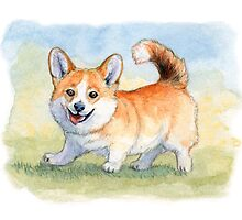 Funny Welsh Corgi 859 by schukinart