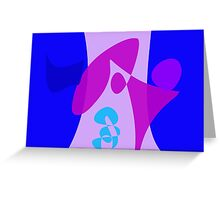 Simple Blue and Purple Abstract Art Greeting Card