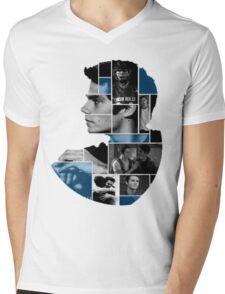 Dylan O'Brien Squares Mens V-Neck T-Shirt