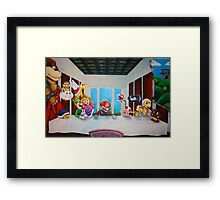 Mario the Last Supper Framed Print