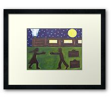 THE RAILWAY STATION Framed Print
