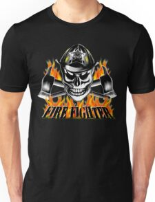 Firefighter Skull 4 Unisex T-Shirt