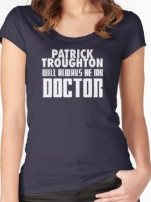 Doctor Who - Patrick Troughton will always be my Doctor Women's Fitted Scoop T-Shirt