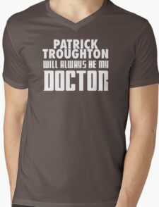 Doctor Who - Patrick Troughton will always be my Doctor Mens V-Neck T-Shirt