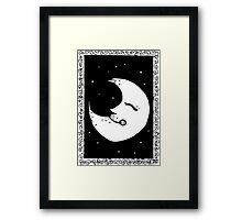Inky Moon Framed Print