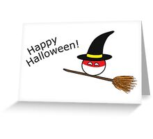 "Polandball Halloween - Polandwitch ""Happy Halloween"" Greeting Card"
