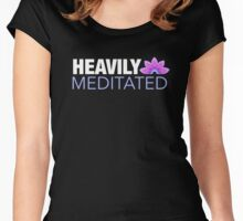 Heavily Meditated   Lotus Design Women's Fitted Scoop T-Shirt