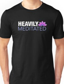 Heavily Meditated | Lotus Design Unisex T-Shirt