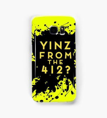 Yinz From The 412 Pittsburgh Pride Design Samsung Galaxy Case/Skin