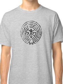 Westworld Black Maze Symbol Distressed Classic T-Shirt