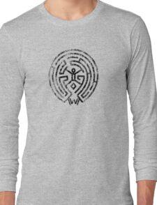 Westworld Black Maze Symbol Distressed Long Sleeve T-Shirt