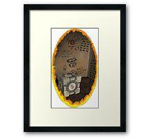 Orange Portal Unwalled Framed Print