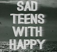 sad teens with happy faces by madebydidi