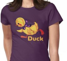 Baby duckling and eggs pattern Womens Fitted T-Shirt