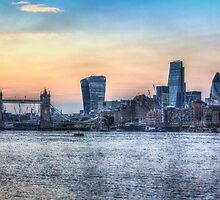 The River Thames and the City by DavidHornchurch