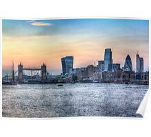The River Thames and the City Poster