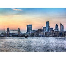 The River Thames and the City Photographic Print