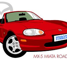 Mazda MX-5 Miata NB red by car2oonz