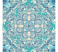 Gypsy Floral in Teal & Blue Photographic Print