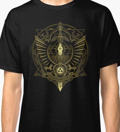 """Zelda - Triforce """"True heroes never die"""" Classic T-Shirt"""