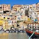 Town of Sciacca, Sicily, viewed from the port by Andrew Jones
