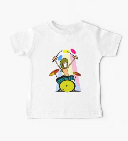 Drummer Cartoon Baby Tee
