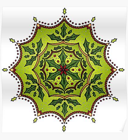Holly Mandala Poster