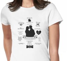 "Captain Swan ""Iconic Quotes"" Silhouette Design 2 Womens Fitted T-Shirt"