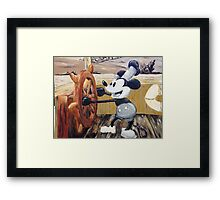Steamboat Willy Painting Framed Print