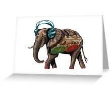 popart elephant - musik Greeting Card
