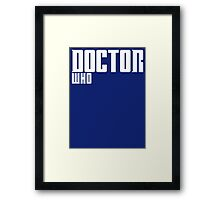 Doctor Who Framed Print
