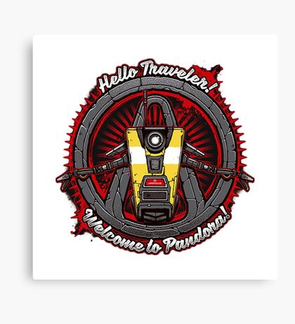 Borderlands - Claptrap art Canvas Print