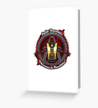 Borderlands - Claptrap art Greeting Card