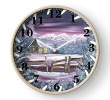 saw blade snow scene Clock