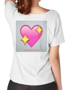 Sparkle Heart Emoji Women's Relaxed Fit T-Shirt