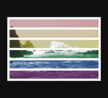 LGTB flag on waves crashing Kids Clothes