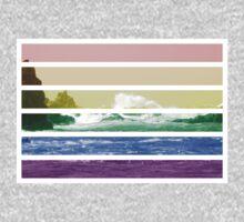 LGTB flag on waves crashing Kids Tee