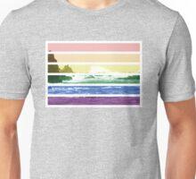 LGTB flag on waves crashing Unisex T-Shirt