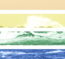 LGTB flag on waves crashing Sticker