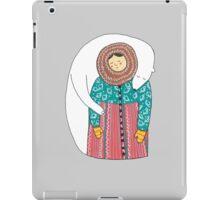 Lady And Her Polar Bear Friend Coque et skin iPad