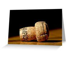 Champagne Cork 2 Greeting Card