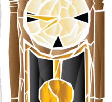 Fractal Grandfather Clock Sticker