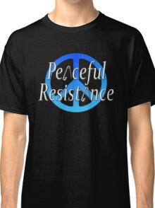 #Peaceful #Resistance - Blue, small Classic T-Shirt