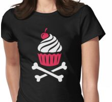 Death by Cupcake Womens Fitted T-Shirt